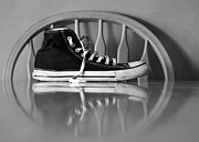 Converse Digital Art - Lonely feet 03 by Bobby Mandal