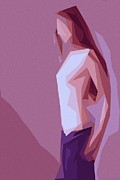 Long Hair Digital Art - Lonely Girl by Stefan Kuhn