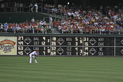 Philadelphia Phillies Posters - Lonely in Center Field Poster by Dave Hall