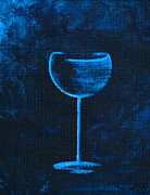 Wine Lovers Prints - Lonely Is The Night Print by Alys Caviness-Gober