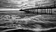 Best Sellers Posters - Lonely Man on the Pier Poster by Ryan Hartson-Weddle