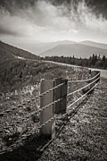 Manchester Vermont Prints - Lonely Mountain Road Print by Edward Fielding