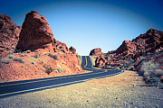 Route66 Prints - Lonely Southwestern Road Print by Laura Palmer