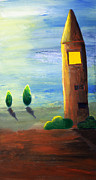 Clipart Posters - Lonely Tower Poster by Nirdesha Munasinghe