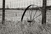 Carolyn Pettijohn - Lonely Wagon Wheel  Black and White