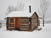 Gary Whitton - Lonely Winter Log Cabin