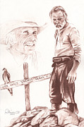 Movie Mixed Media Originals - Lonesome Dove Gravesite by Bill Olivas
