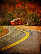Barns Digital Art - Long and Winding Road by Pamela Phelps