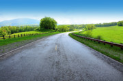 Byway Prints - Long and Winding Road Print by Thomas R Fletcher