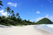 Long Bay Tortola Print by Laura Hiesinger