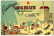 Long Beach 1946 Print by Nomad Art And  Design