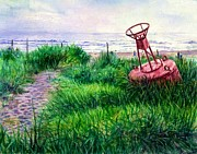 Pride Paintings - Long Beached Buoy by Cynthia Pride