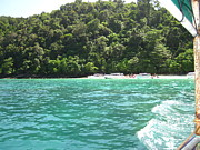 Ocean Photo Metal Prints - Long Boat Tour - Phi Phi Island - 0113181 Metal Print by DC Photographer