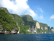 Long Photo Prints - Long Boat Tour - Phi Phi Island - 011319 Print by DC Photographer