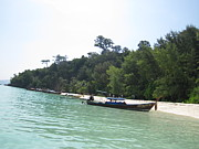 Water Photo Prints - Long Boat Tour - Phi Phi Island - 0113235 Print by DC Photographer