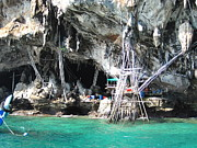 Boat Photo Prints - Long Boat Tour - Phi Phi Island - 011331 Print by DC Photographer