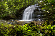 Beautiful Creek Posters - Long Creek Falls Poster by Debra and Dave Vanderlaan