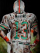 Dan Marino Drawings Framed Prints - Long Day Framed Print by Jeremy Moore