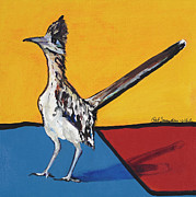 Road Runner Framed Prints - Long Distance Runner Framed Print by Pat Saunders-White