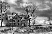 Haunted House Print Posters - Long Hard Winter Poster by Michele Steffey