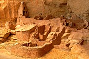 Mesa Verde Photos - Long House Tower by Adam Jewell