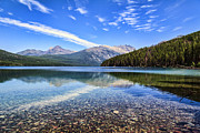 Fed Metal Prints - Long Knife Peak at Kintla Lake Metal Print by Scotts Scapes