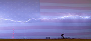 James Bo Insogna - Long Lightning Bolt Across American Oil Well Country Sky