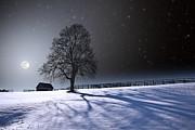 Long Moonrise Shadows Print by Larry Landolfi