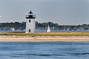 Cape Cod Lighthouses Framed Prints - Long Point Light Framed Print by Bill  Wakeley