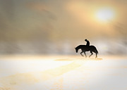 Horse Prints - Long Ride Home Print by Bob Orsillo