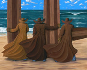 Beach Paintings - Long Ride West by Lance Headlee