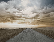 Dirt Roads Photo Originals - Long Road by Cheryl Hrudka