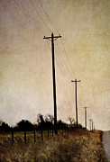 Farms Digital Art Metal Prints - Long Road Metal Print by Elena Nosyreva