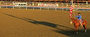 Rodeos Posters - Long Shadow at Sunset Poster by John Malone