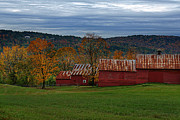 Quechee Prints - Long Side of A Nice Barn Print by Jim LaMorder