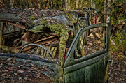 Old Car Door Photos - Long Term Parking by Erik Brede