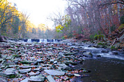 Colors Of Autumn Posters - Long View of the Wissahickon Waterfall Poster by Bill Cannon