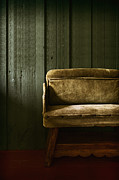 Empty Bench Prints - Long Wait Print by Margie Hurwich