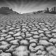 Cracked Prints - Long Walk On A Hot Day Print by Mike McGlothlen