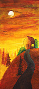 Hill Top Village Prints - Long way to home Print by Nirdesha Munasinghe