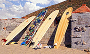 Malibu Lagoon Framed Prints - Longboard Lineup Framed Print by Ron Regalado