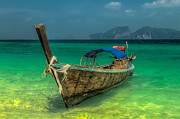 Featured Digital Art Prints - Longboat Print by Adrian Evans