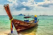 Shallow Framed Prints - Longboat Asia Framed Print by Adrian Evans
