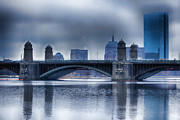 Longfellow Framed Prints - Longfellow Bridge Boston Framed Print by Douglas Barnard