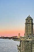 Boston Ma Photo Framed Prints - Longfellow Bridge Tower Framed Print by JC Findley