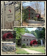 Wayside Inn Grist Mill Framed Prints - Longfellows Grist Mill Framed Print by Patricia Urato