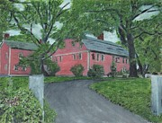 Sudbury Ma Painting Metal Prints - Longfellows Wayside Inn Metal Print by Cliff Wilson