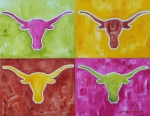 Burnt Originals - Longhorn Pop Art by Patti Schermerhorn