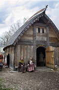 Historical Reenactments Photos - Longhouse Gable by La di  Kirn