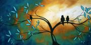 Birds Painting Prints - Longing by MADART Print by Megan Duncanson